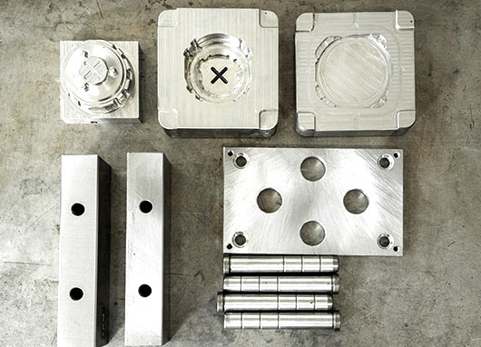 mold bases and parts made of steel